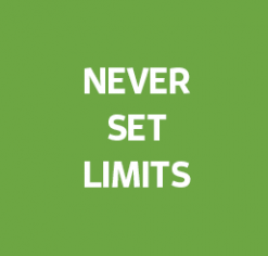 Never Set Limits